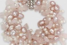 Iridesse Sterling Silver Freshwater Pink Pearl 'Twist' Bracelet