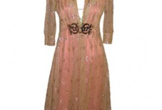 Cynthia Rowley Metallic Lace Dress