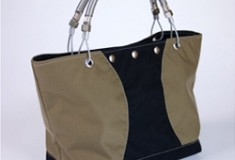 Hardware 'Shorty' Nylon Handbag