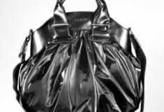 Luana Maule' – Black Nylon and Leather Satchel Bag