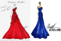 Michelle Obama's Inaugural Dress Sketches