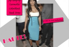 Kim Kardashian Looks Haute in her Jay Godfrey Carmella Colorblock Tank Dress