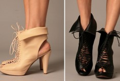 Snap up the Sexy and Sporty Jeffrey Campbell Lace-up Peep Toe Boot