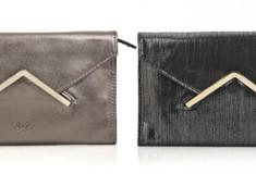 Anya Hindmarch Nadja metallic leather reversible clutch