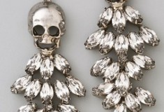 Unique bridal buy: Tom Binns Tough Chic Skull & Rhinestone Earrings