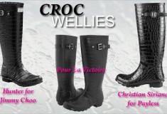 Seeing triple: the croc rain boot