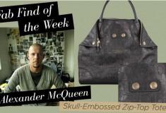 Haute pick: Alexander McQueen Skull-Embossed Zip-Top Tote