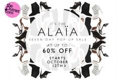 Alaïa shoes pop-up sale at theOutnet