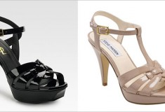 Get the Look for Less – YSL and Steve Madden T-strap platform sandals