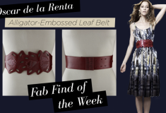 Fab Find of the Week: Oscar de la Renta Alligator-Embossed Leaf Belt