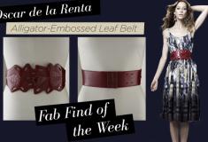 Fab Find of the Week: Oscar de la Renta Alligator-Embossed Leaf Belt
