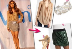 Get her haute look: Jennifer Lopez in Haute Hippie, Kara Ross and Christian Louboutin at the Venus Goddess Fund for Education launch