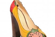 Charlotte Olympia Suede & Leather Fruit Covered Pumps
