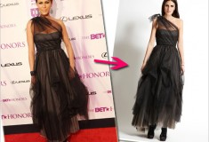 Get her haute look: Nicole Ari Parker's BCBGMAXAZRIA Layer Pickup Gown (on sale at ideeli)