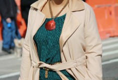 My Style: Designing Women (Rachel Roy trench + Catherine Malandrino blouse + Zara leggings)