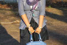 My Style: Got The Blues (Priorities chambray shirt + Gap skirt + Rebecca Minkoff Morning After bag)