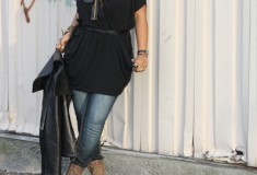"My Style: Take a ""Bow"" (RACHEL Rachel Roy dress + Antique Rivet jeans + Bing Bang necklace)"