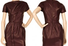 Haute Splurge: Halston Leather mini dress