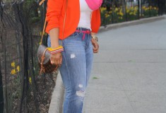 My Style: Cotton Candy (Zara blazer + Express boyfriend jeans + Louis Vuitton bag)