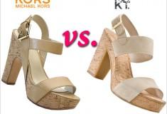 Shoe wars: KORS Michael Kors vs. MRKT cork platform sandals