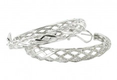 New Art Deco and Estate Jewelry Collection by Ramona Singer for HSN 2011_05_HoopSilverEarring
