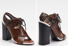 Haute feet: Proenza Schouler Lace-Up Leather Slingback Sandals