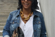 My Style: Philly-bound (Kensie Denim jacket + Vince jeans + Jessica Kagan Cushman clutch)
