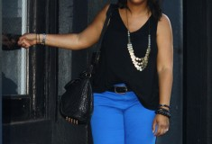 My Style: (Black tank + Blue Zara pants + Jeffrey Campbell zebra sandals)