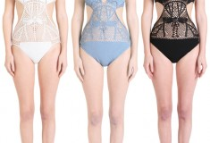 Bathing beauty: Catherine Malandrino Crochet Swimsuit