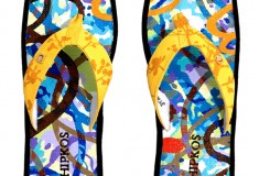Would you pay $18K for a one-of-a-kind pair of David Palmer Chipkos flip-flops?