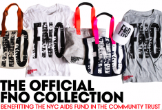 Shop the Official Fashion's Night Out Collection of tops and tote bags to benefit the NYC AIDS Fund