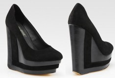 Rachel Zoe Eva Suede Wedges platform shoes