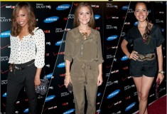 Star style: Elise Neal, Maria Menounos and Susie Castillo at the Samsung Galaxy Tab 10.1 launch party