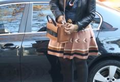 My Style: Early Thanksgiving (H&M top + ASOS skirt + kate spade bag + Charles David platform pumps)