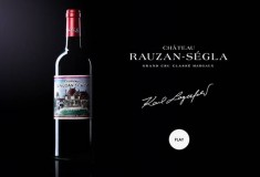 Karl Lagerfeld collaborates with Chateau Rauzan-Segla, the Chanel-owned winery, on limited-edition Grand Cru Classé bottle