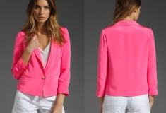 Elizabeth and James Bruce Blazer - neon pink