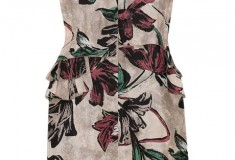 Marni Floral print silk satin dress