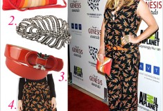 Get her haute look: Ke$ha cleans up nicely in Miu Miu and Salvatore Ferragamo at the 26th Annual Genesis Awards