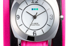 La Mer Collections 'Neon Odyssey' Watch in neon pink
