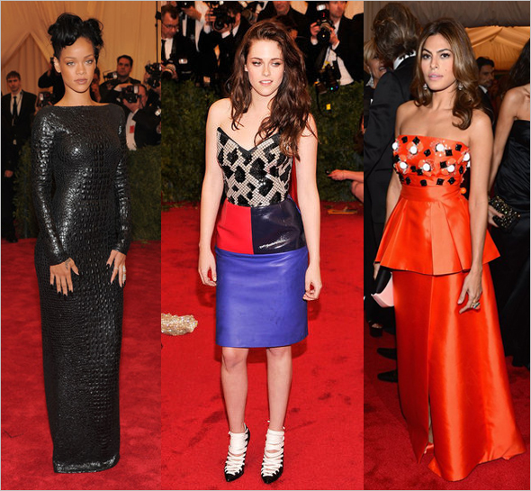 2012 Met Gala - Rihanna, Kristen Stewart and Eva Mendes - What's Haute Magazine
