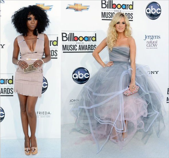 Brandy and Carrie Underwood at the 2012 Billboard Music Awards