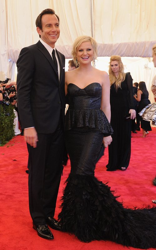 MET Gala 2012 Amy Poehler With Will Arnett