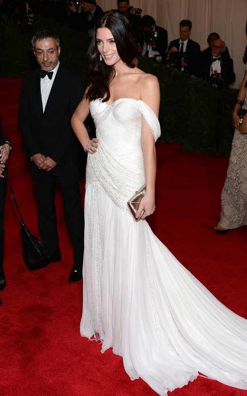 MET Gala 2012 Ashley Greene in white gown