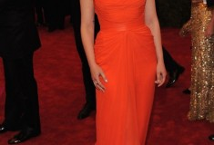 MET Gala 2012 Ginnifer Goodwin orange gown