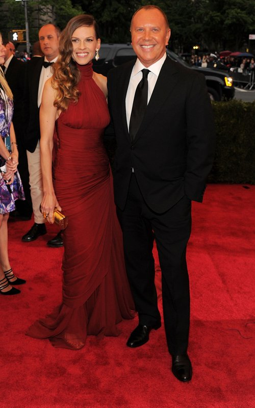MET Gala 2012 Hilary Swank in Michael Kors