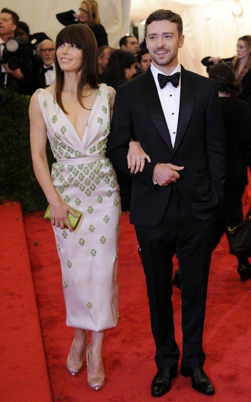 MET Gala 2012 Jessica Biel With Justin Timberlake