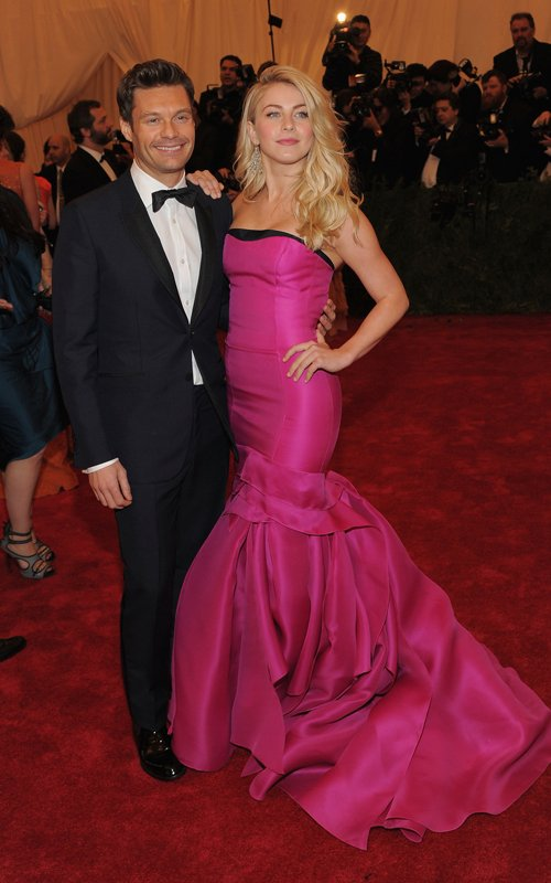 MET Gala 2012 Julianne Hough With Ryan Seacrest