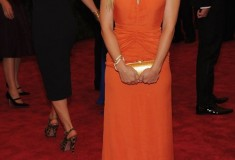 MET Gala 2012 Kristen Bell in orange gown