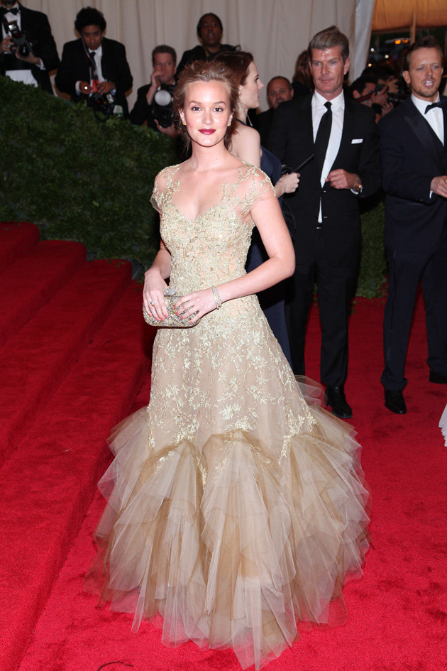 Met Gala 2012 Leighton Meester in Marchesa