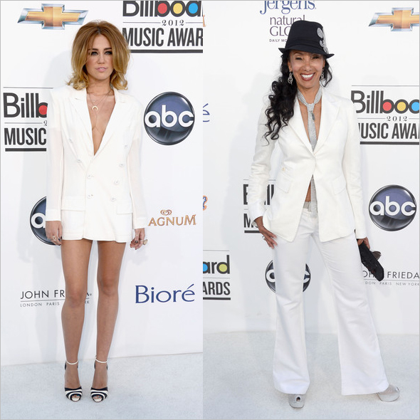 Miley Cyrus and 'Downtown' Julie-Brown at the 2012 Billboard Music Awards